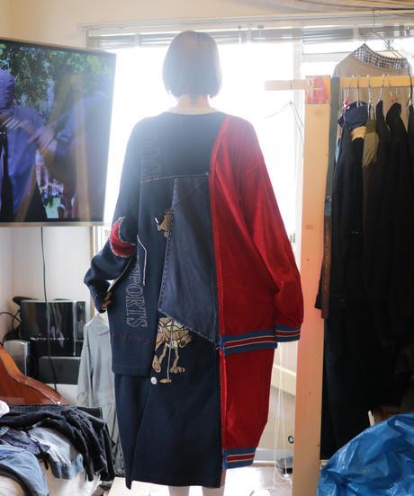 """""""ボーイフレンド・ワンピース"""" Dress one-piece for boyfriend, from sweat trainer vintages"""