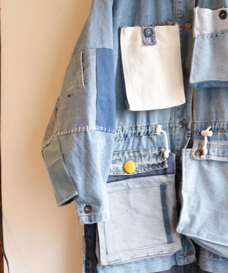 """""""青のデニムモッズコート"""" Blue denim mods coat"""