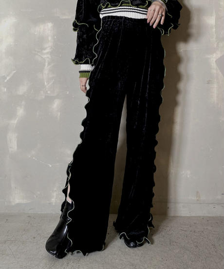 【RE;CIRCLE】 Mellow  Velour  Pants ⑤ / 201212-0014