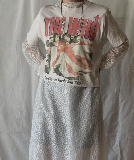 【USED】  Band T-shirt THE WHO 1989/210407-026