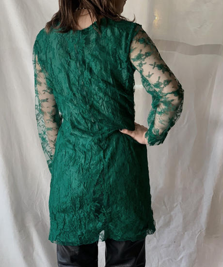 【USED】 Flower Patterned Race  Dress/210217-023