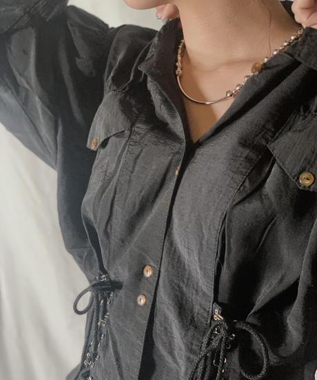 【USED】  Long Sleeve Viscose Shirt /210310-021