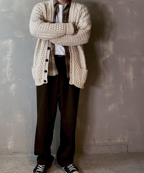 【USED】 Aran Knit Caridigan / 201125-031