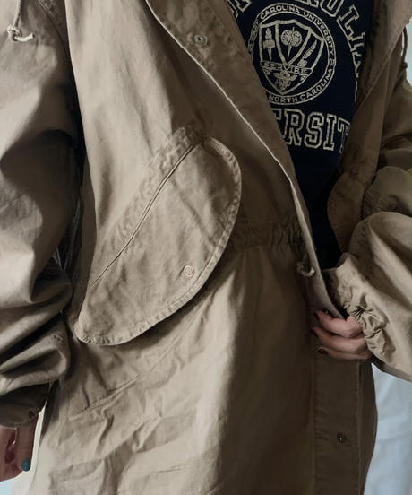 【MEND】 Dyed Beige US Snow Hoodie / 201125-033