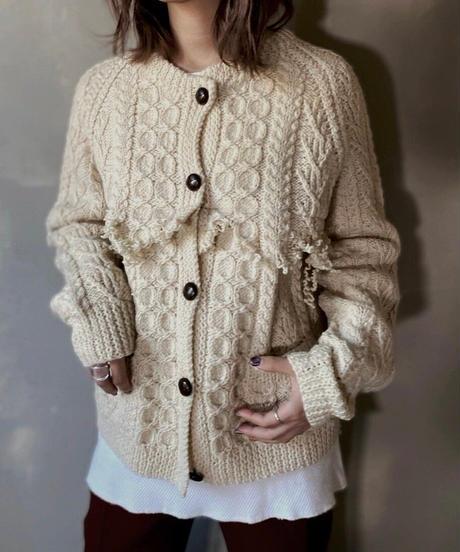 【RE;CIRCLE】 Fringe Cable Knit Cardigan ② / 201112-026