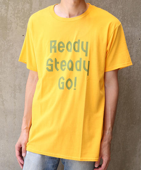 [READY STEADY GO] S/S T-SHIRT (GOLD)