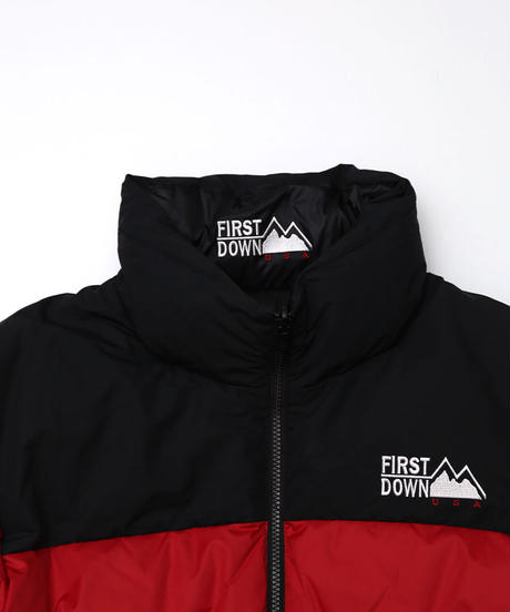 [FIRST DOWN] Riversible Down jacket (Red)