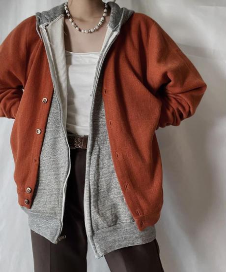 【USED】 Acrylic Knit Cardigan④/210930-033