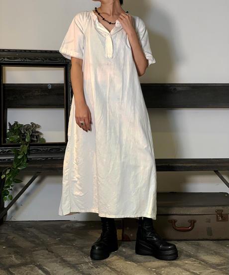 【Used】S/S White Cotton Pajama  /201011-047