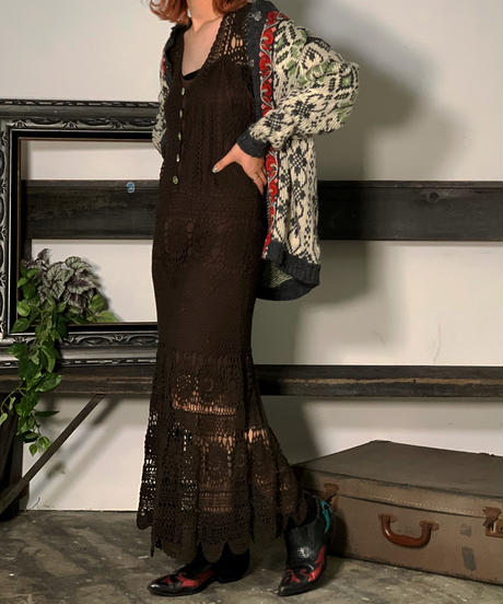 【Used】Croche Lace One-Piece  /201006-011