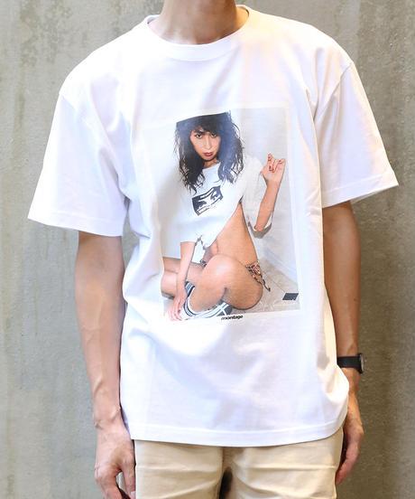 [montage] Aya Kawasaki Wearing SS T-shirt (White)