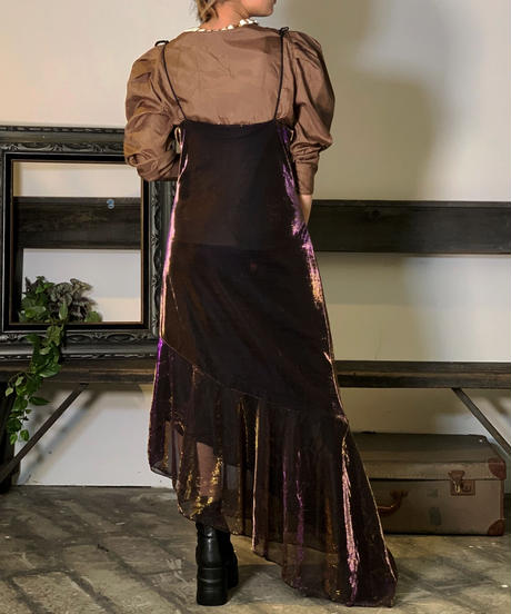 【Used】N/S See-Though Rame One-Piece  /201011-041