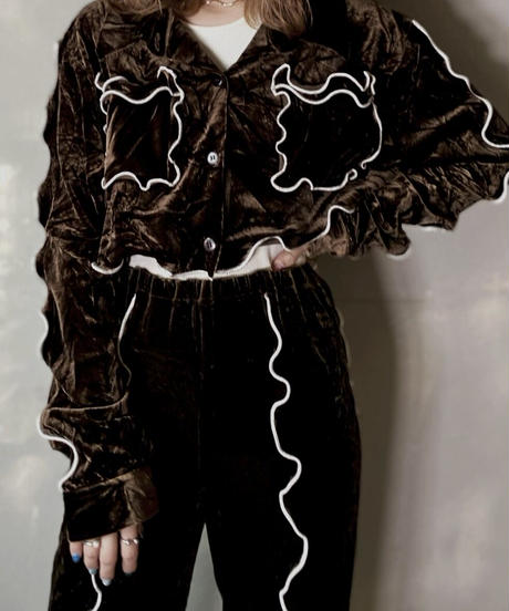【RE;CIRCLE】 Mellow Velour Short Shirt ① /201212-019