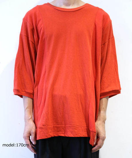 [REMAKE] HALF SLEEVE T-SHIRT (RED)