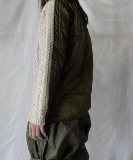 【RE;CIRCLE】 RE Alan Knit × Liner Top②/211008-030