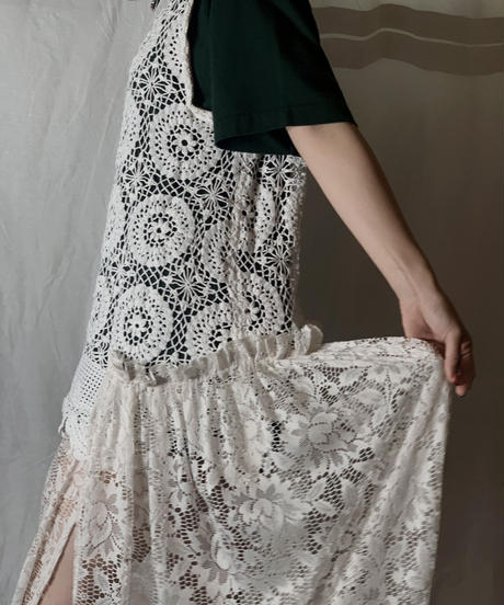 【RE;CIRCLE】 RE Lace N/S One-piece①/210714-005