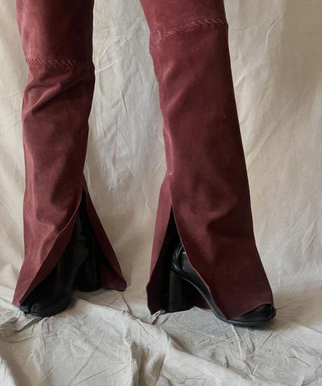 【USED】Fake Suede Pants/210217-038