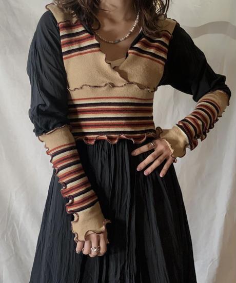 【RE;CIRCLE】 Mellow Knit No Sleeve Top+Arm②/210217-029
