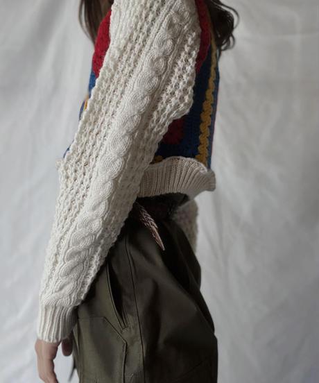 【RE;CIRCLE】 RE Alan Knit × Granny Top/211008-020