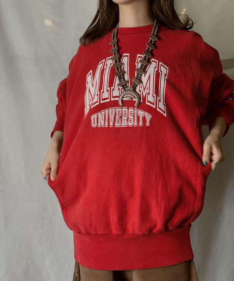 【USED】 90's USA Champion Reverse Weave Sweat MIAMI / 210127-024