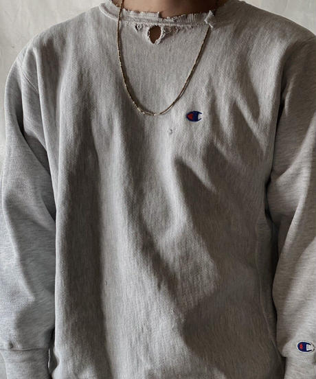 【USED】90's USA Champion Reverse Weave Sweat One Point /210213-013
