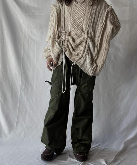 【RE;CIRCLE】 RE Alan Knit Patch Work Top⑧/211008-027