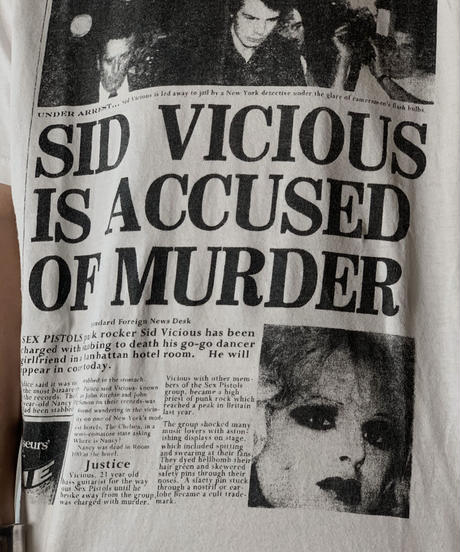 【USED】 S/S T-shirt SID VICIOUS/210526-054