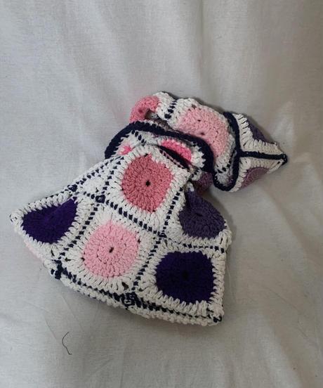 【RE;CIRCLE】 Granny Knit Bag②/210404-013