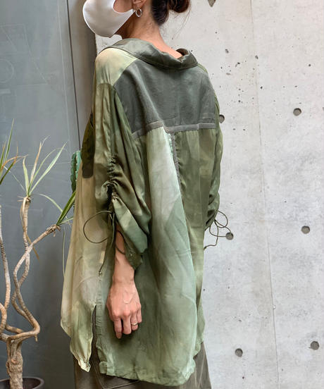 【Used】 L/S  See-through  Remake Shirt  /200901-036