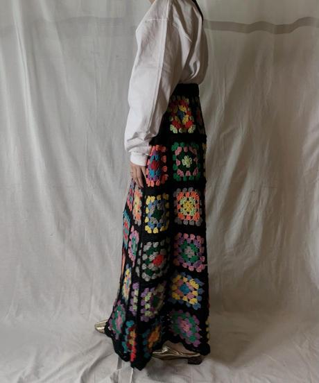 【USED】 Granny Knit Long Skirt②/210404-010