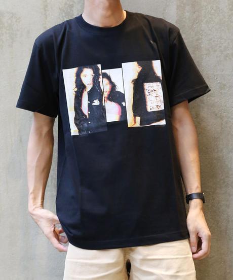 [montage] Aya Kawasaki vivid SS T-shirt (Black)