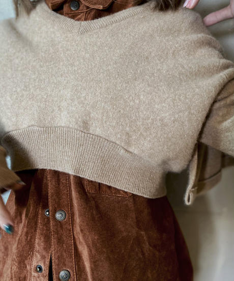 【RE;CIRCLE】 Frill Cashmere  Knit / 201125-026