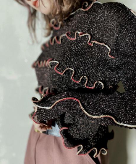 【RE;CIRCLE】L/S Mellow Rib Knit Lame / 201103-002