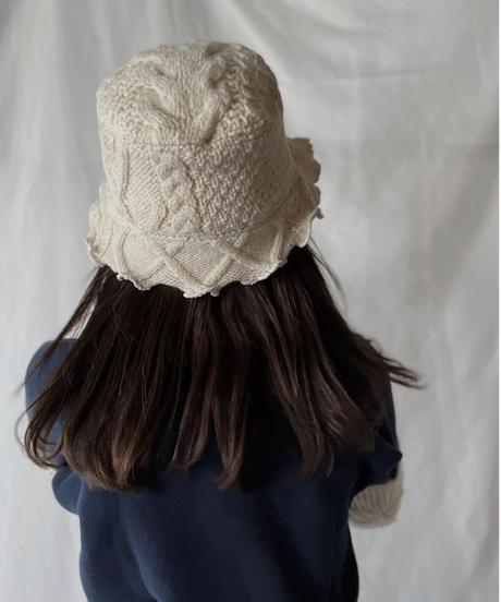 【RE;CIRCLE】 RE Alan Knit Bucket Hat①/211008-031