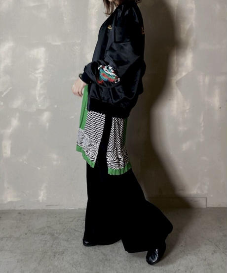【USED】 L/S Geometric Pattern Dress  / 201120-029