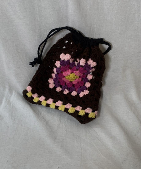 【RE;CIRCLE】 Granny Knit Pouch③ /210404-006