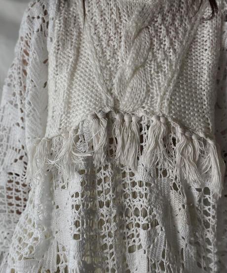 【RE;CIRCLE】 RE Alan Knit ×Crochet One-piece①/211008-004