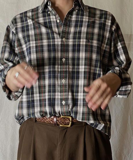 【USED】 Ralph Lauren Paid L/S Shirt③/210721-024