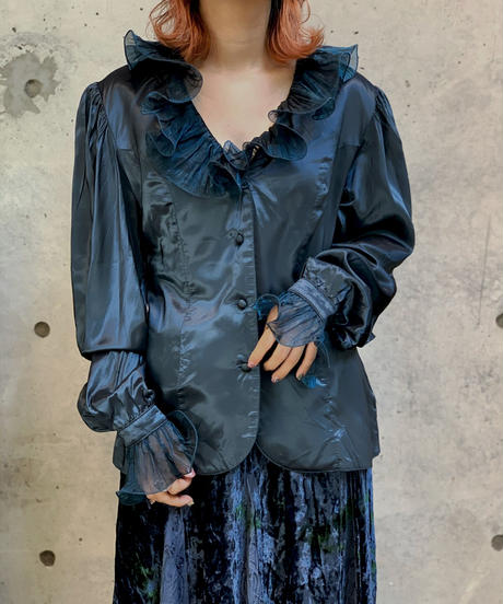 【Used】L/S Organdy Collar  Blouse / 200928-021