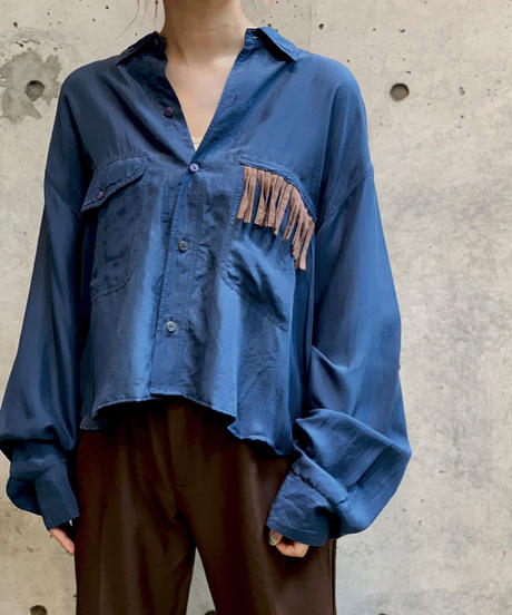 【RE;CIRCLE】L/S Silk Fringe Shirt/ 11
