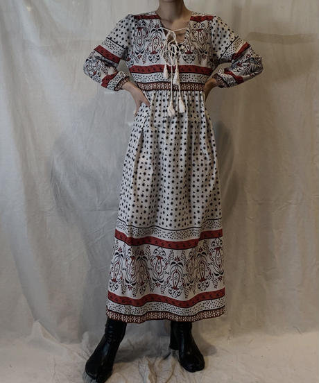 【USED】Poly Front Open Dress/210217-060
