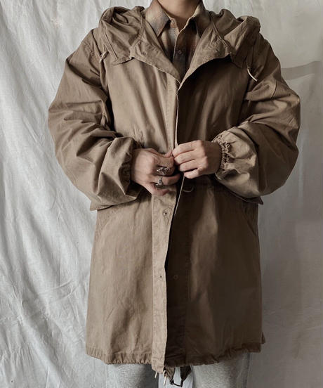 【MEND】 Dyed Beige US Snow Hoodie /210310-004