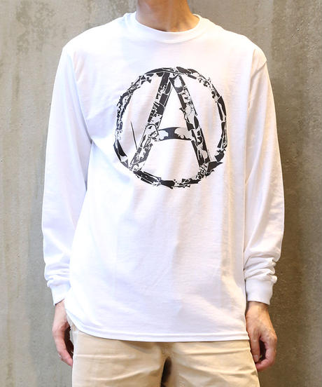 [montage] 森別注  Anarchy LS T-shirt (White)