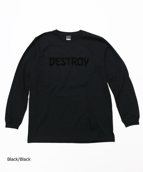 [Culture is me] Long sleeve T-shirt DESTROY