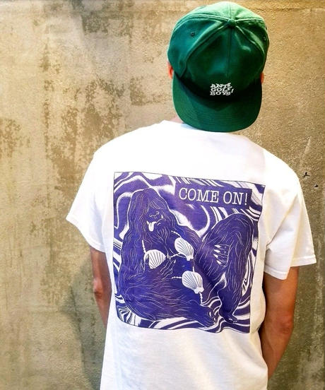Ken Hamaguchi COLOR T-SHIRT (WHITExPURPLE)