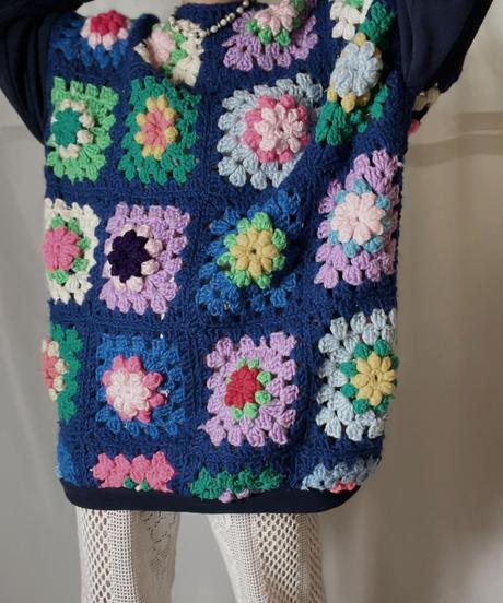 【RE;CIRCLE】 RE Granny Knit×Sweat L/S Top/210917-011