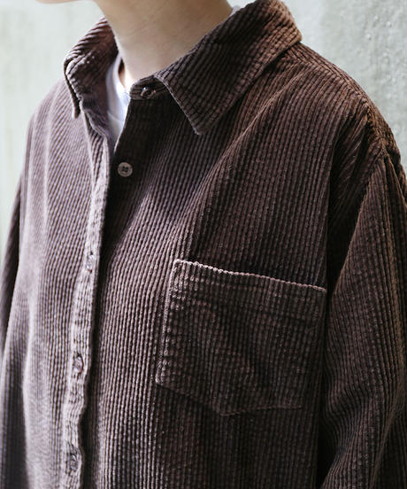 [USED] Corduroy Shirt (Brown1)