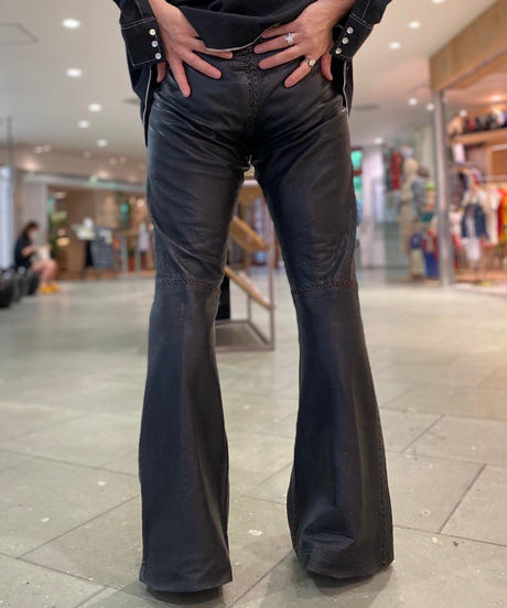 【Used】Leather Flare Pants