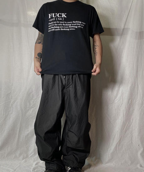 【USED】 S/S T-shirt FUCK /210708-016