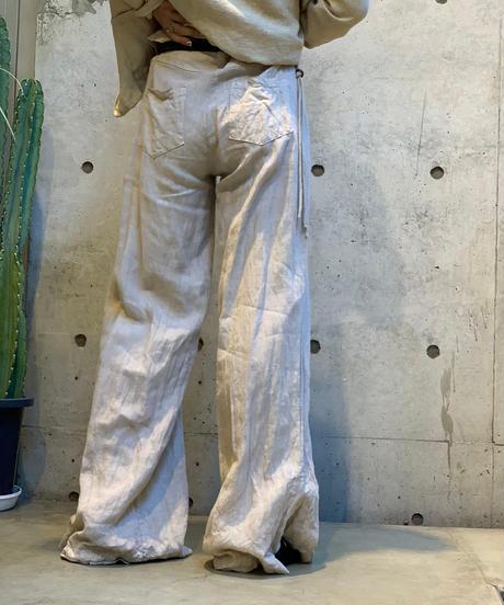 【Used】Linen Pants Beige/ 200812-012